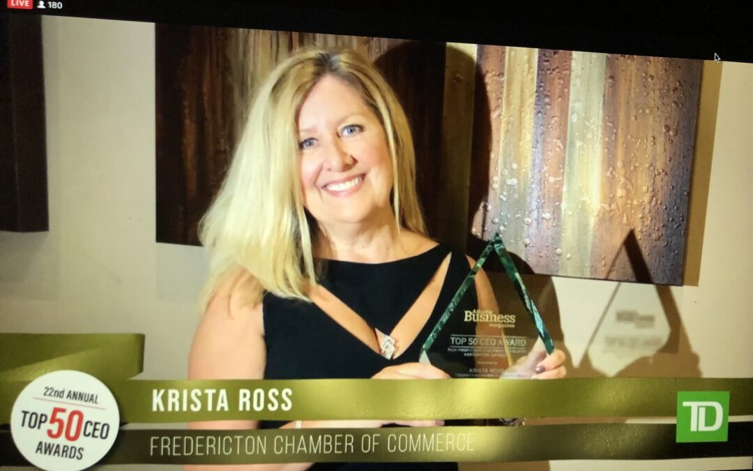 Fredericton Chamber of Commerce CEO Krista Ross Named   to Atlantic Business Magazine's 2020 Top 50 CEO List
