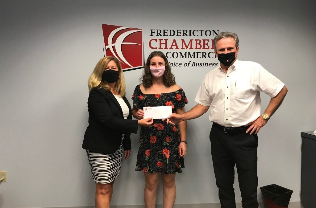 Fredericton Chamber of Commerce Awards Annual Scholarship